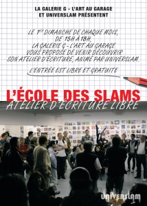 """""""l'école des slams"""" Atelier d'écriture"""