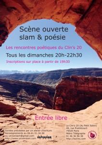 Scène ouverte de poésie tous les dimanches à 19h30 @ Le Clin's 20 / Paris | Paris | Île-de-France | France